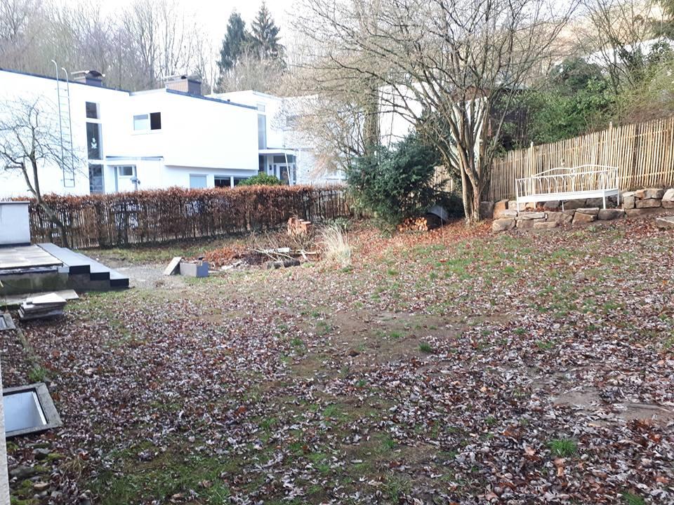 Der hintere Teil des Gartens vor der kompletten Neugestaltung.