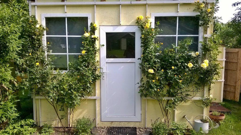 Das Gartenhaus im geliebten Pachtgarten nach der Renovierung