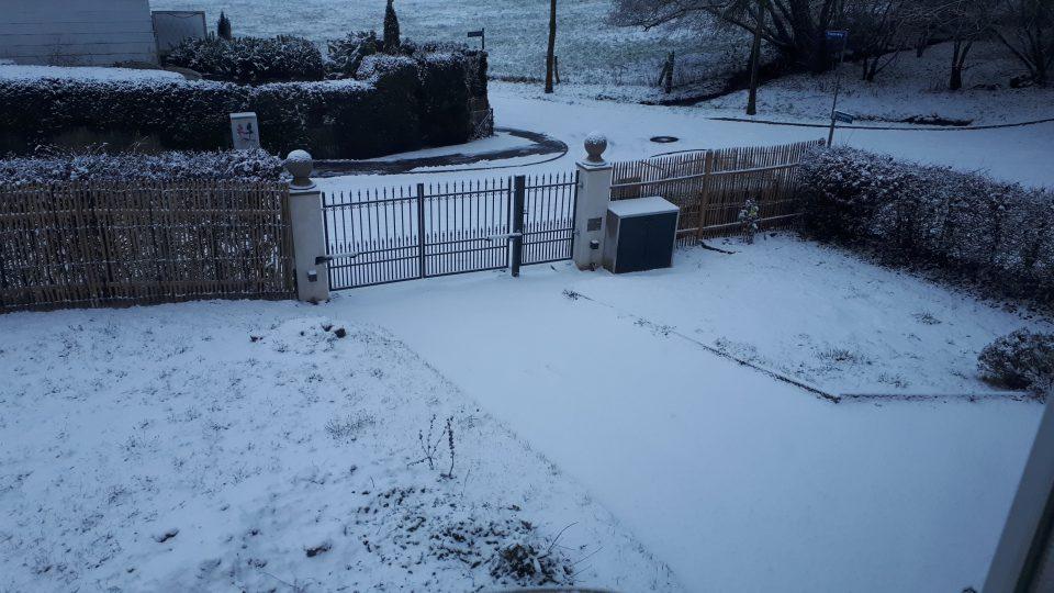 Weißer Garten einmal ganz anders unter einer weißen Schneedecke.