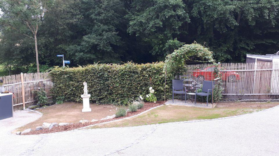 Der Romantikgarten wurde ganz frisch angelegt.