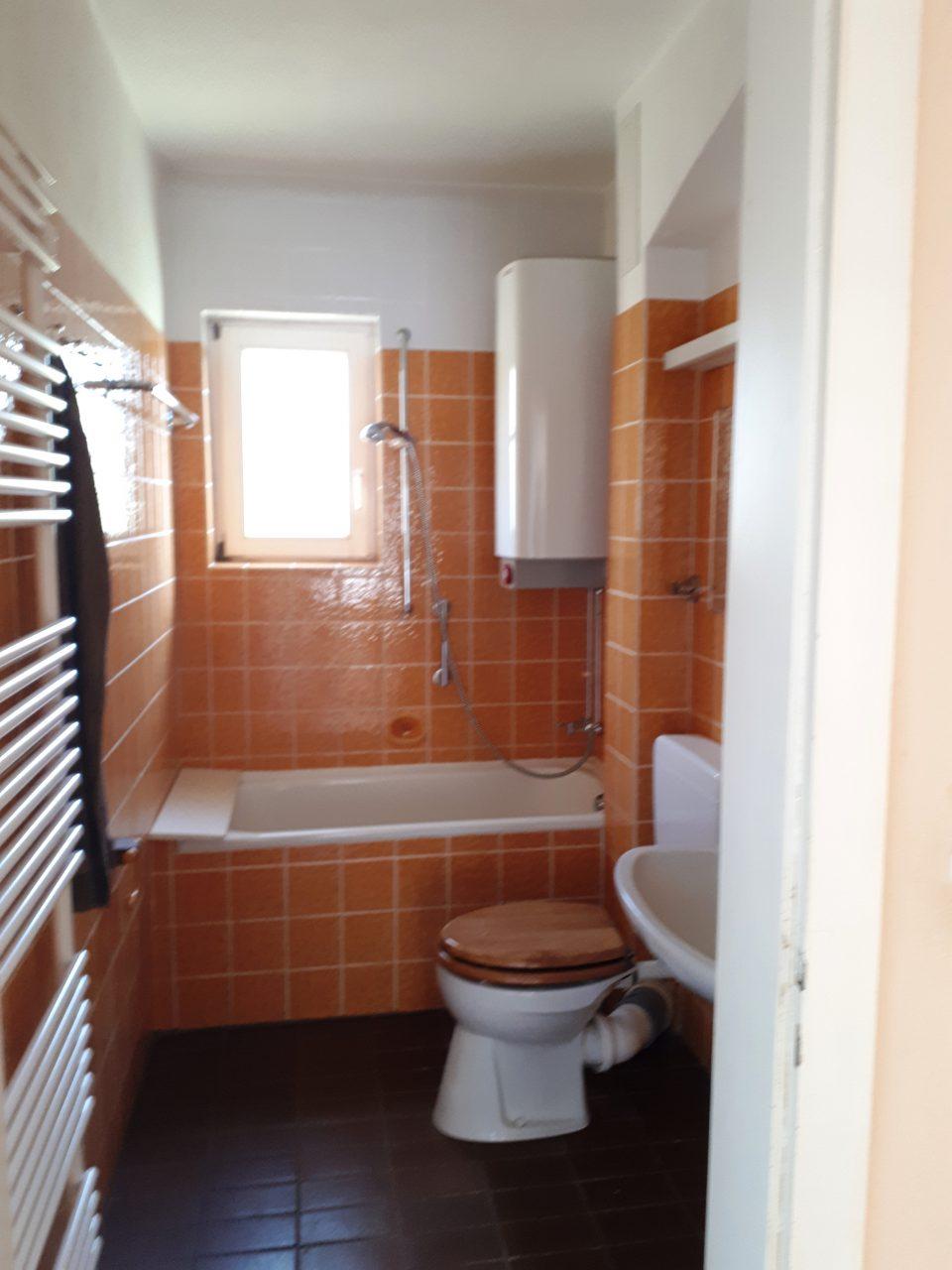 Das Gäste-WC im Erdgeschoss vor der Sanierung