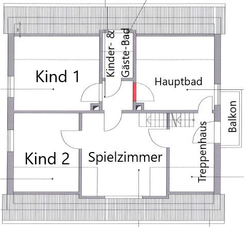 Das Obergeschoss im Grundriss.