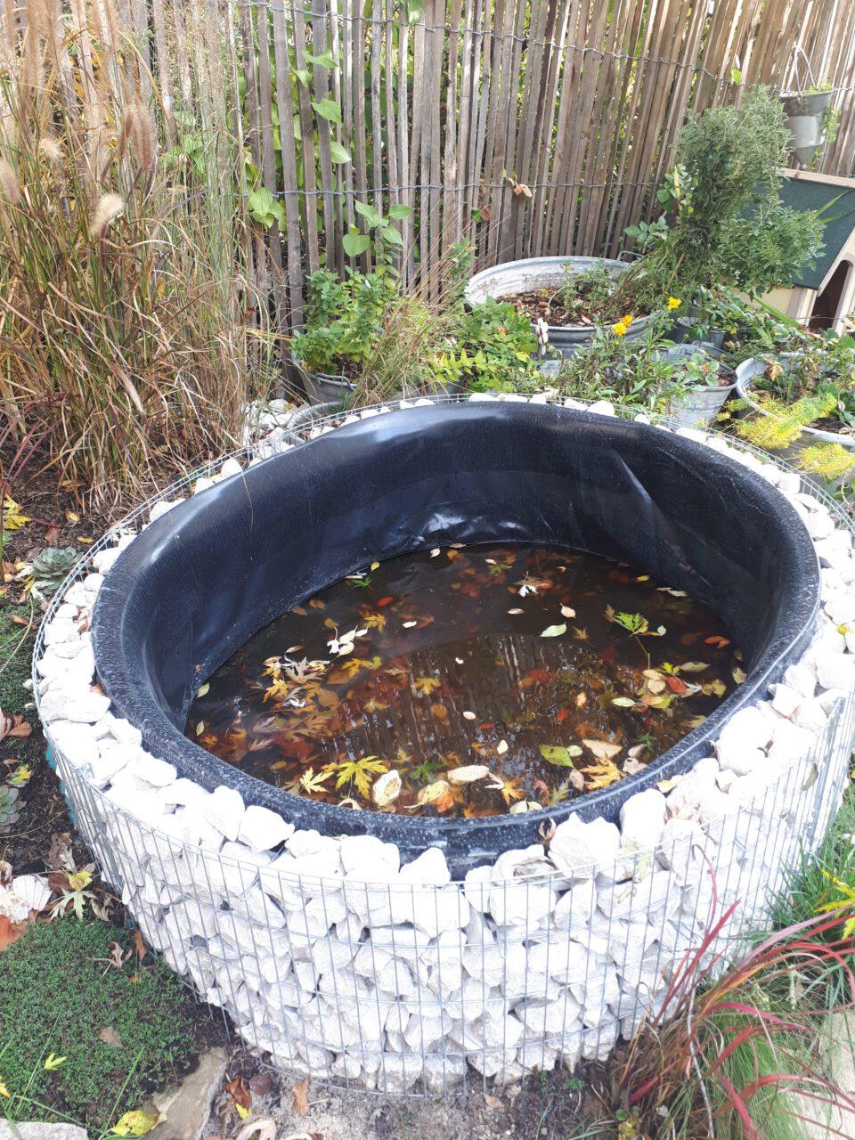 Damit keine Blätter und Tiere ins Wasser fallen können, braucht man auch bei einem individuellen Bau eine Abdeckung
