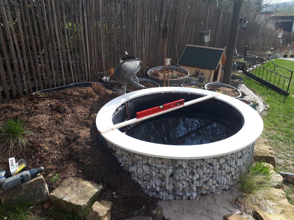 Die individuelle Lösung für einen schönen Beckenrand am selbst gebauten Garten Whirlpool